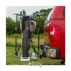Black Widow Hitch-Mounted Aluminum Motorcycle Carrier 400 lb. Capacity