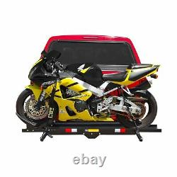 Black Widow MCC 600 Steel Motorcycle Carrier Hitch Mounted Heavy Duty 600Lb New