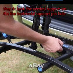 Car Bicycle Carrier Hitch Mount Rack Black Steel SUV/Truck Platform 1-2 No Bikes