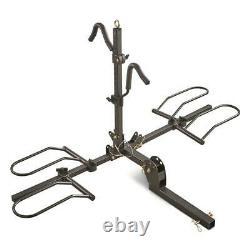 Fat Tire Bike Carrier Mount Steel Rack, 2-Bike Capacity