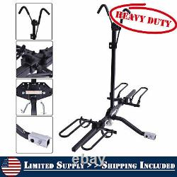Fold Receiver 2 Bike Rack Carrier Mount Hitch Truck SUV Steel with Safety Strap
