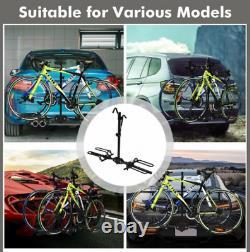 Fold-able Tilt 2 Bike Carrier Platform Hitch Bicycle Rack 1-1/4 or 2 Receiver