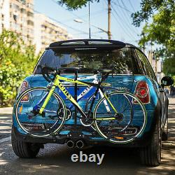 Foldable Hitch Mount Bike Rack Stand Bicycle Carrier Platform 2 Receiver