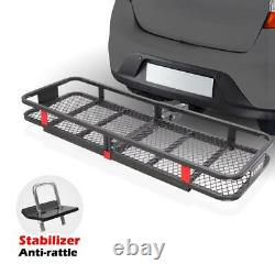 Folding Cargo Carrier for 2 Receiver Hitch Mounted Up to 500lbs Avoid Oxidation