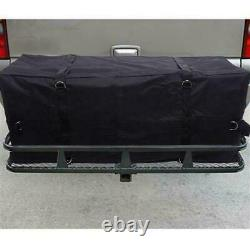 Folding Fold Hitch-Mount Cargo Carrier Mounted Basket Luggage Rack Fit for 2