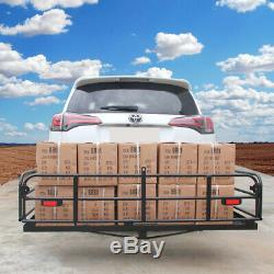 Folding Hitch-Mount Cargo Carrier Mount Basket Luggage Rack for Ram F150