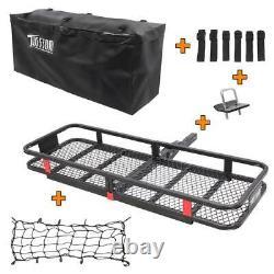 Folding Rack Cargo Basket Hitch Mount Luggage Carrier for Car SUV +Bag Net Combo