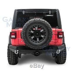 HD Rock Crawler Rear Bumper+2 Hitch+Double Plate for 18-19 Jeep Wrangler JL