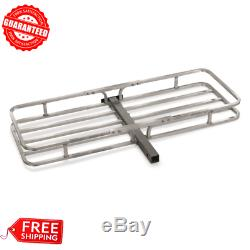 HITCH MOUNT CARGO CARRIER 52 Aluminum 500 lbs Storage Basket Hauler for Vehicle