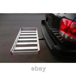 HITCH MOUNT CARGO CARRIER Car Rear Rack Aluminum 500 lbs. Capacity