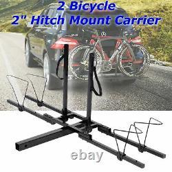Heavy Duty 2 Bike Bicycle 2 Hitch Mount Carrier Platform Rack Car Truck SUV NEW