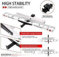 Heavy Duty 450 Lbs Capacity Aluminum Motorcycle Carrier Anti Tilt Hitch Mounted