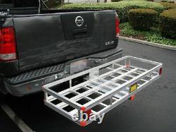 Heavy Duty Hitch Mount Cargo Carrier Rack Trailer Basket Luggage Folding Holder