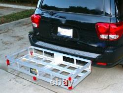 Heavy Duty Hitch Mount Cargo Carrier Rack Trailer Basket Luggage Tool-Box Holder