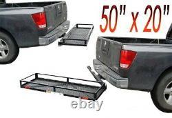 Heavy Duty Swing Away Tow Hitch Mount Cargo Carrier Luggage Basket 50x20