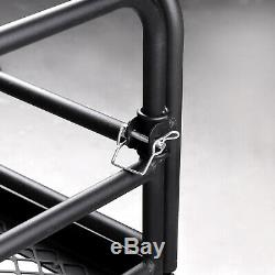 Hitch High Side Rail Cargo Carrier Mounted Basket Luggage Rack with 2 Receiver