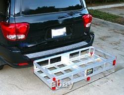 Hitch Mount Aluminum Cargo Carrier High Rails RV Truck SUV Vans Cars 500 Lbs