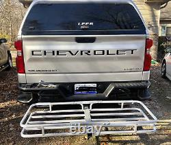 Hitch Mount Cargo Carrier Aluminum Luggage 2 Receiver Rack Hauler 500 lbs