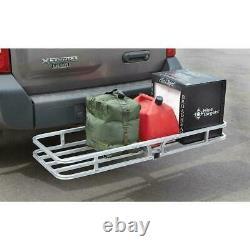 Hitch Mount Cargo Carrier Aluminum Luggage 2 Receiver Rack Hauler 500 lbs Class