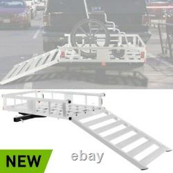 Hitch-Mount Cargo Carrier Mobility Chair Scooter Snow Blower Lawn Mower XL Ramp