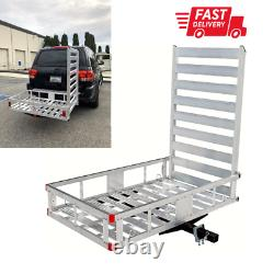 Hitch Mount Cargo Carrier for Snow Blower Electric Chair Scooter Lawn Mower Ramp