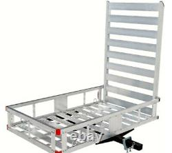 Hitch-Mount Cargo Carrier for Snow Blower Electric Chair Scooter Lawn Mower Ramp