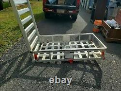 Hitch Mount Cargo Carrier with 47 Ramp for Snow Blower Electric Chair Scooter