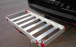 Hitch Mount Compact Aluminum Cargo Carrier 48 in. X 21 in. 500 lbs. Capacity