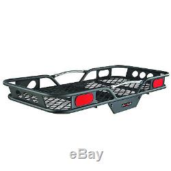 Hitch Mount Steel Cargo Carrier 2in Receiver 600lb Storage Black Rack Rear Auto