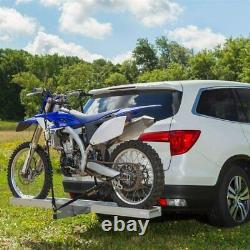 Hitch Mounted Aluminum Dirt Pit Bike Motorcycle Carrier Hauler Trailer 400 lbs