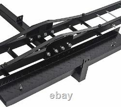 Hitch Mounted Aluminum Dirt Pit Bike Motorcycle Carrier Hauler Trailer 500 lbs