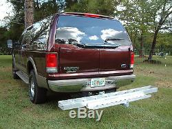 Hitch-Mounted Aluminum Motorcycle Carrier 400 lb. Capacity