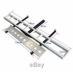 Hitch-Mounted Aluminum Motorcycle Dirt Bike Carrier 400 lb Capacity