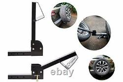 Hitch tire Carrier Foldable Construction for SUV Easy Hitch Mount Collapsible