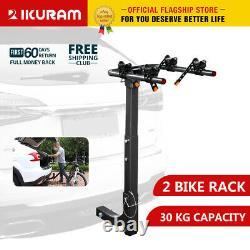 IKURAM 2/3/4 Bike Rack Bicycle Carrier Rear 2Hitch Mount Rear Rack Foldable Car