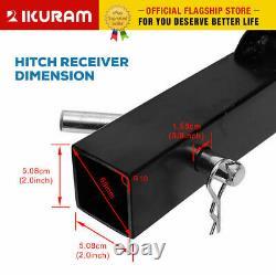 IKURAM 4 Bicycle Carrier Bike Car Rear Rack 2 TowBar Steel Foldable Hitch Mount