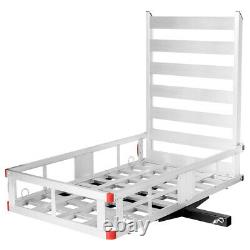 IRONMAX 50x29.5Aluminum Cargo Carrier With Ramp Hitch-Mounted Mobility Carrier