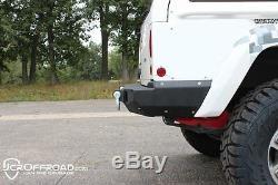 JCR Offroad Vanguard Rear Bumper Bare Metal 84-01 Jeep Cherokee XJ