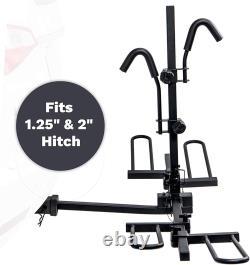 KAC 2-Bike Hitch Mount Platform Bike Rack Carrier Compact Folding Design