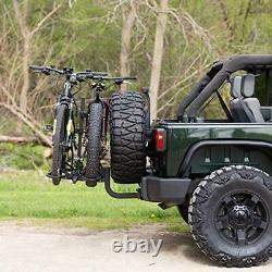 KAC Overdrive Sports K2 2 Hitch Mounted Rack 2-Bike Platform Style Carrier f