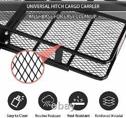 Koreyosh Folding Cargo Rack Hitch Mounted Cargo Rack Luggage Carrier Heavy Duty