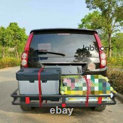 Labwork Mount Luggage Carrier Folding Rack Cargo Basket Trailer Hitch 500lbs