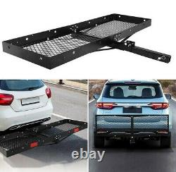 Lonabr 500 LBS Hitch Rack Folding Cargo Carrier Mount Fit 2 Receiver Luggage