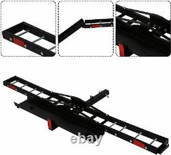 Lonabr Motorcycle Rack Scooter Carrier Hauler Hitch Mount Ramp Fit 2 Receiver