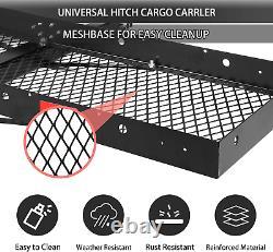 Luckyermore 500 LBS Hitch Folding Cargo Carrier Mount Rack Luggage Basket Truck