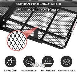 Luckyermore 60 Hitch Mounted Folding Cargo Carrier Basket Rack Truck Travel