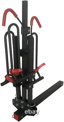MARVOWARE 2-Bike Hitch Mount Bike Rack Foldable Platform Style Bicycles Carrier