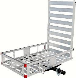 MAXXHAUL 80779 Aluminum Hitch Mount Cargo Carrier with 47 Long Ramp, 1 Pack