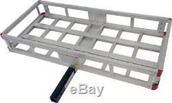 MaxxHaul 70108 49 x 22.5 Hitch Mount Aluminum Cargo Carrier With High