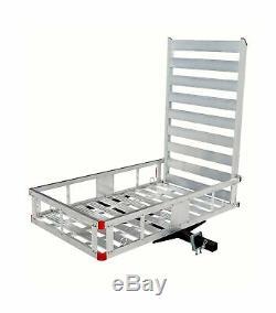 MaxxHaul 80779 Aluminum Hitch Mount Cargo Carrier 47 Long Ramp Accessories